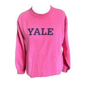 YALE Bubble Gum Pink Crew Neck Sweatshirt - XS